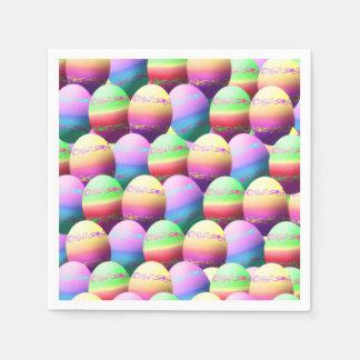 Servilletas de papel coloridas de los huevos de