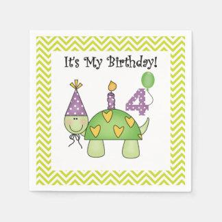 Servilletas de papel cumpleaños lindo de la