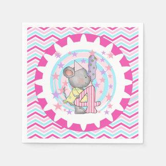 Servilletas de papel cumpleaños lindo del ratón