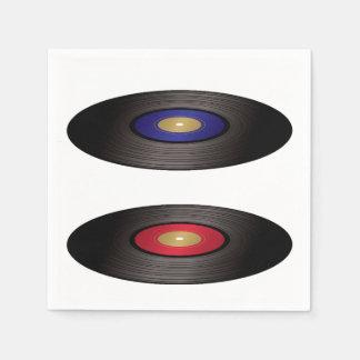 Servilletas de papel de discos de vinilo