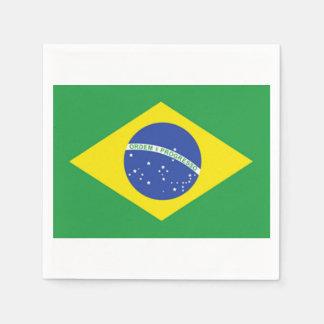 Servilletas de papel de la bandera brasileña