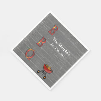 Servilletas de papel de la barbacoa del verano