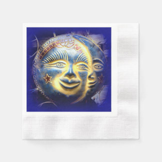 servilletas de papel de la cara de luna de la cara