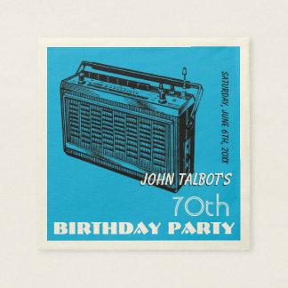 Servilletas de papel de la fiesta de cumpleaños de