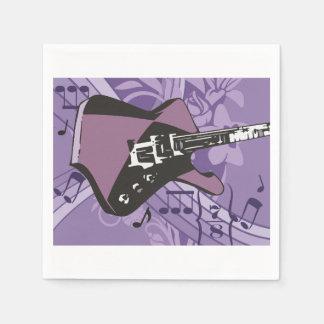 Servilletas de papel de la guitarra eléctrica