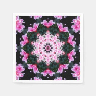 Servilletas de papel de la mandala de la flor