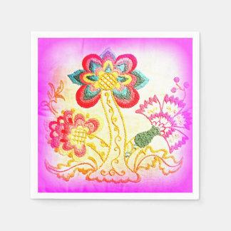 servilletas de papel de la palmera rosada