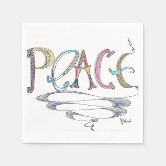 Servilletas de papel de la paz