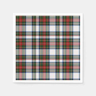 Servilletas de papel de la tela escocesa de tartán