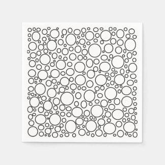 Servilletas de papel de las burbujas