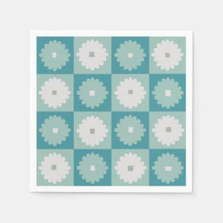 Servilletas de papel de las flores geométricas