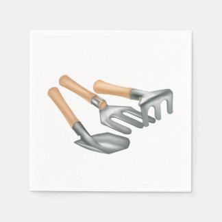 Servilletas de papel de las herramientas que