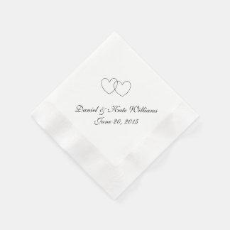 """Servilletas de papel de los """"corazones que entrela"""