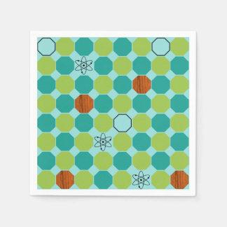 Servilletas de papel de los octágonos atómicos