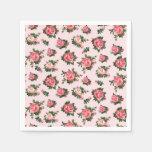 Servilletas de papel de los rosas de té rosado