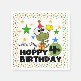 Servilletas de papel del 4to cumpleaños de lúpulo
