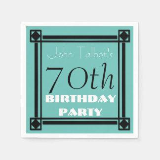 servilletas de papel del 70.o de cumpleaños