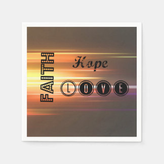 Servilletas de papel del amor de la esperanza de