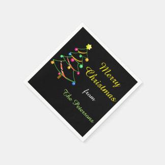 Servilletas de papel del árbol de navidad