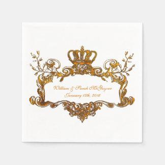 Servilletas de papel del boda del texto real