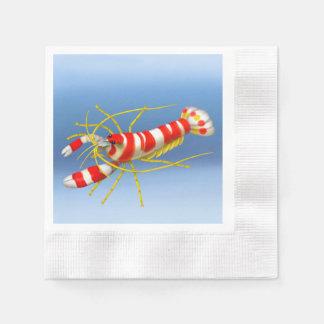 Servilletas de papel del camarón de pistola de Ran