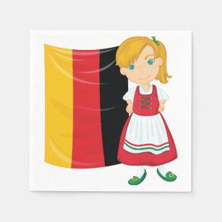 Servilletas de papel del chica de Oktoberfest
