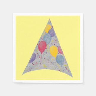 Servilletas de papel del cumpleaños del gorra del