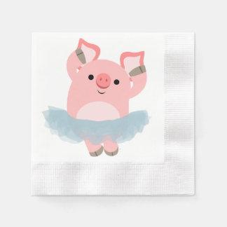 Servilletas de papel del dibujo animado del cerdo