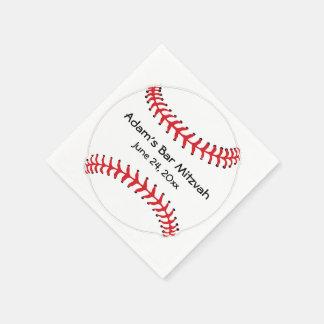 Servilletas de papel del diseño del béisbol