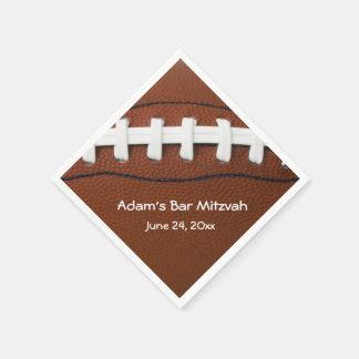 Servilletas de papel del diseño del fútbol america