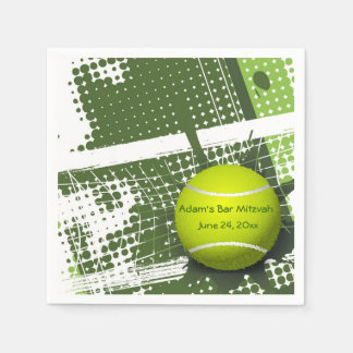 Servilletas de papel del diseño del tenis