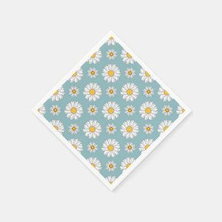 Servilletas de papel del estampado de flores del t