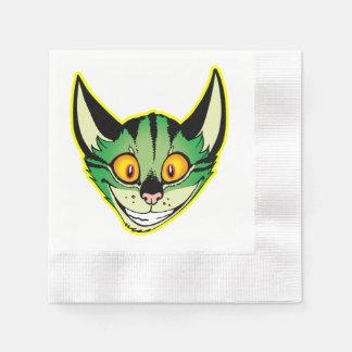 Servilletas de papel del gato fluorescente del