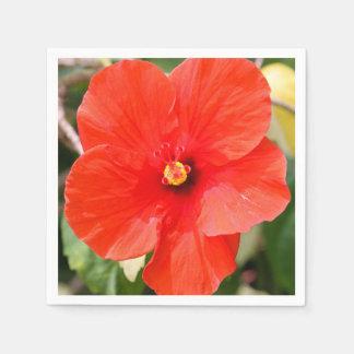 Servilletas de papel del hibisco