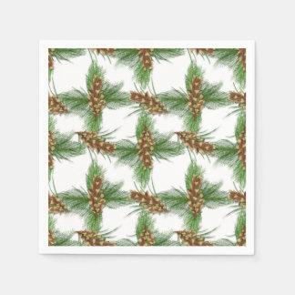 Servilletas de papel del modelo del cono del pino