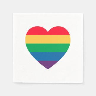 Servilletas de papel del orgullo del corazón del