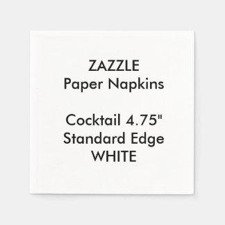 Servilletas de papel del pequeño cóctel BLANCO de