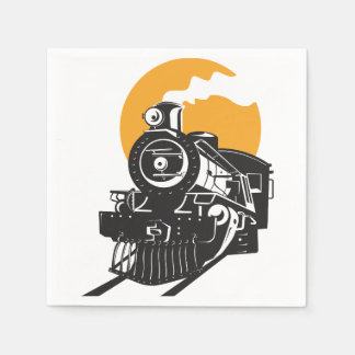 Servilletas de papel del tren del vapor