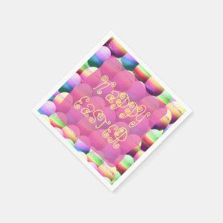 Servilletas de papel felices coloridas de los