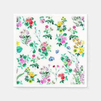 Servilletas de papel florales magníficas