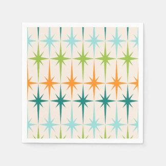 Servilletas de papel geométricas de Starbursts del