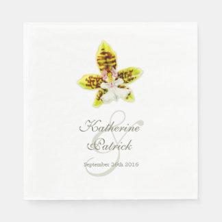 Servilletas de papel nombradas boda pintadas de la