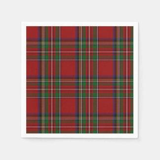 Servilletas de papel reales de la tela escocesa de