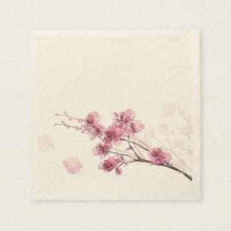 Servilletas de papel rosadas de Sakura (50 PC)