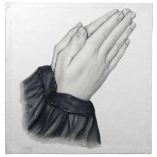 Servilletas de rogación de las manos
