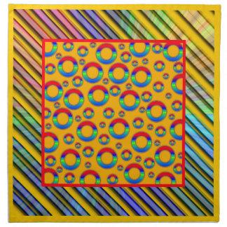 Servilletas de tabla coloridas del diseño del art