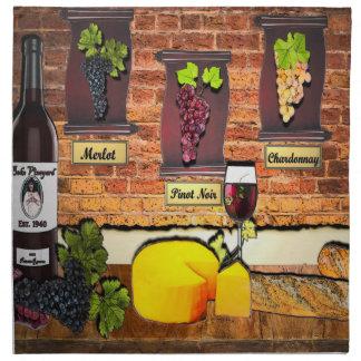Servilletas del adorno del vino del viñedo de Beko