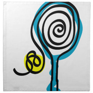 Servilletas del algodón con diseño del tenis