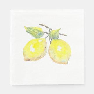 Servilletas del almuerzo con diseño del limón servilletas de papel