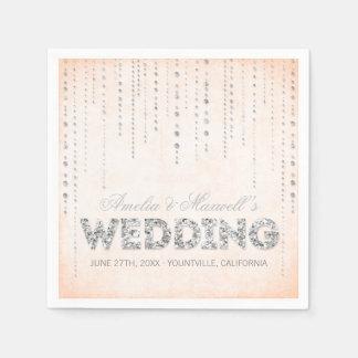 Servilletas del boda de la mirada del brillo del servilleta desechable